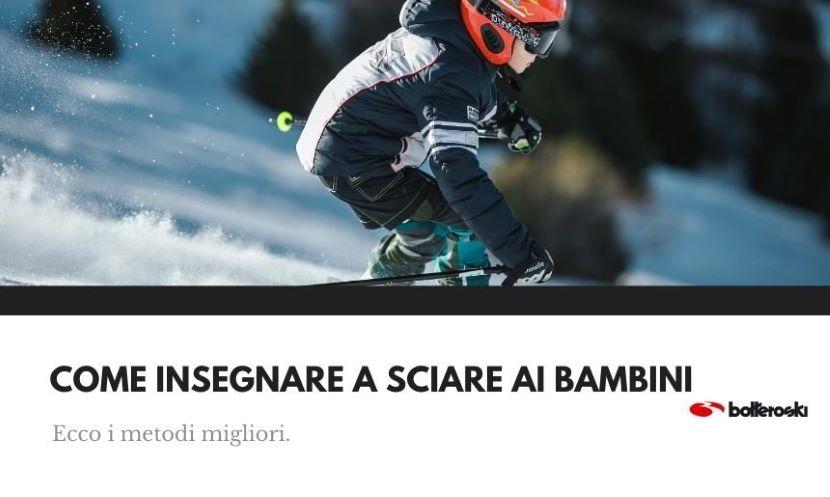 come insegnare a sciare ai bambini