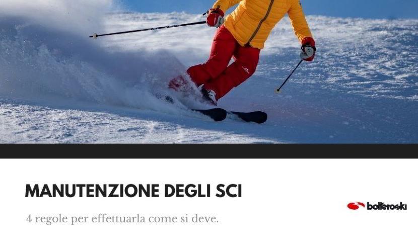 corretta manutenzione degli sci