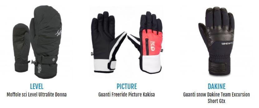 guanti da snowboard
