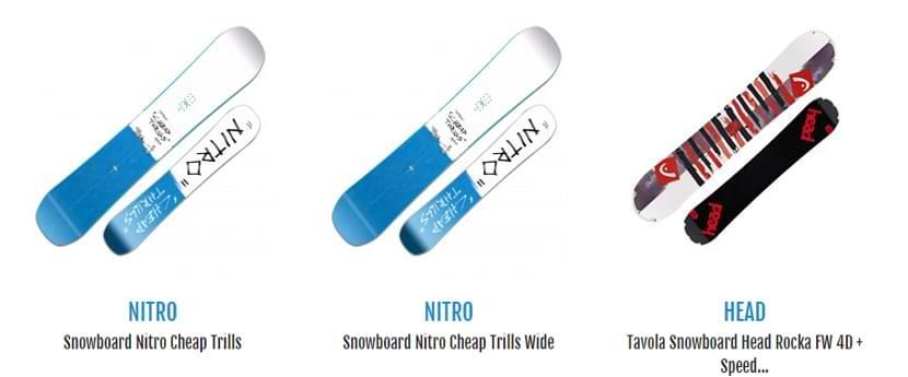 Le migliori tavole da snowboard per fare evoluzioni le trovi su Botteroski.com