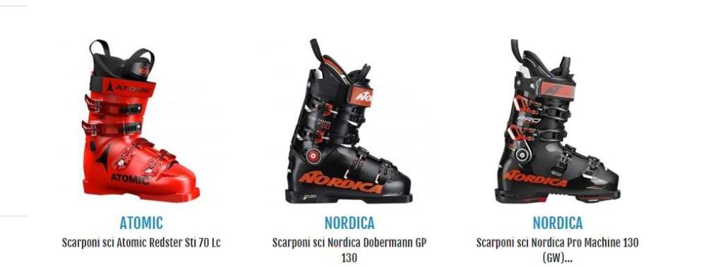 Gli scarponi da sci di qualità assicurano una lunga durata